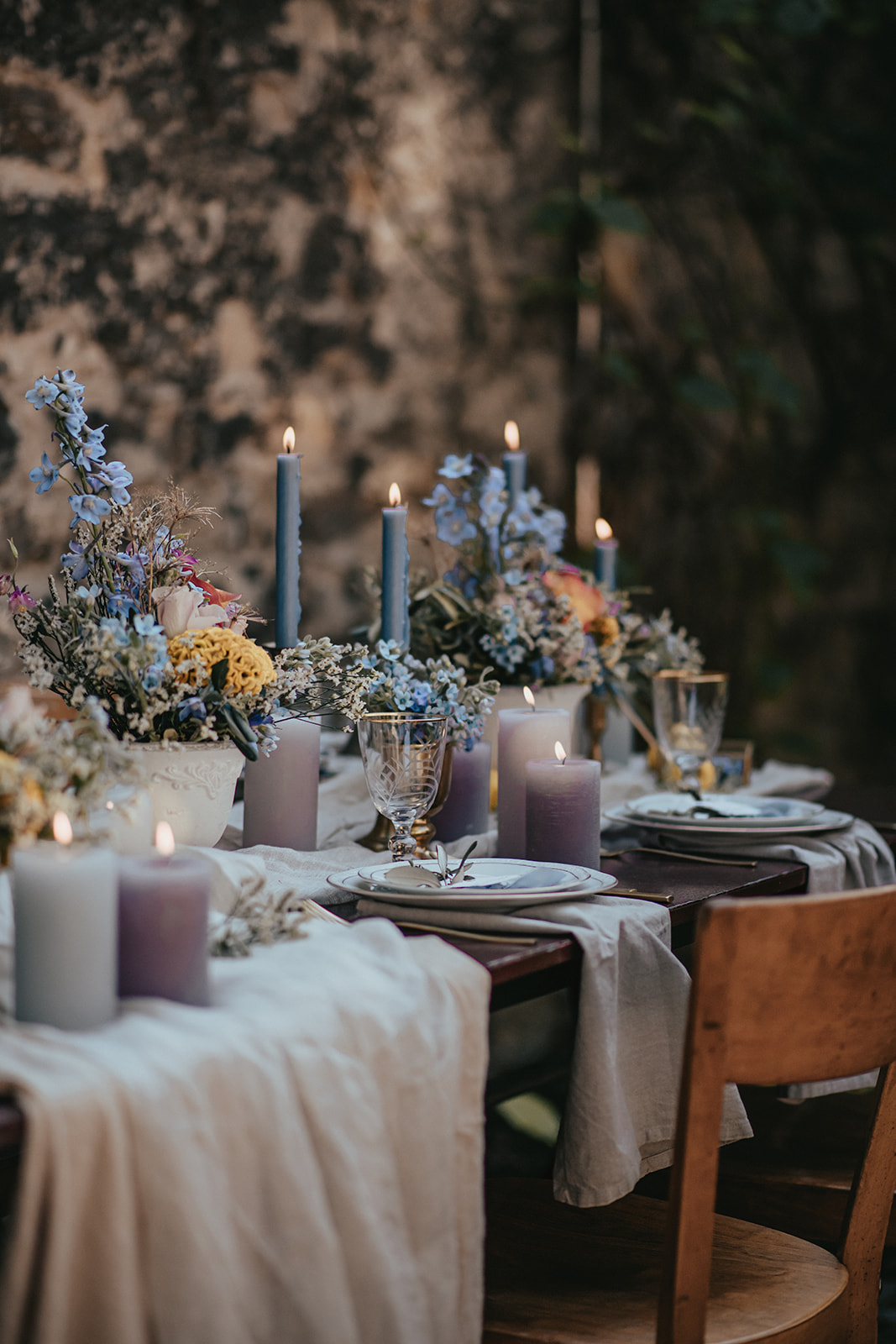 Toscana Wedding Table Setting